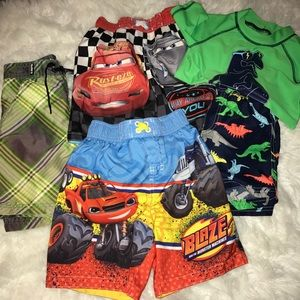 Toddler 3T 5 piece swimming trunk lot - some nwt